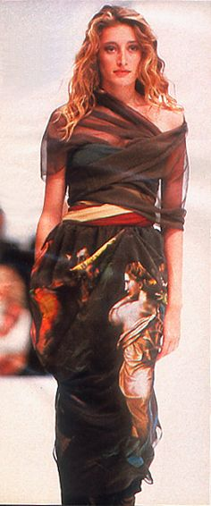 Model/ Marie Sophie Wilson-Carr . Dolce And Gabbana 1990.