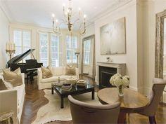 Emeril Lagasse's Romantic Living Room in Manhattan