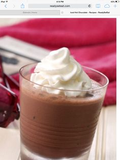 Just had this!! Delicious!! Iced hot chocolate!! Recipe on http://www.readyseteat.com/recipes-Iced-Hot-Chocolate-3877.html