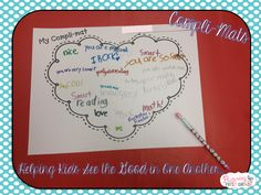 Compli-Mats ~ Helping Kids See the Good in One Another {www.flutteringthroughfirstgrade.com} Genius Idea!