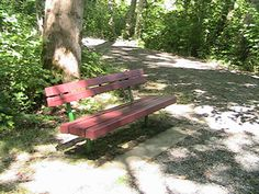 Bench with no armrests