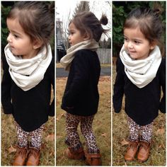 So fashionable, warm and cute! Toddler Infinity ScarfLinen Lace Block by RuggedCloset on Etsy, $13.00