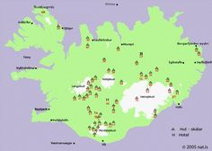 MOUNTAIN HUTS - HOTELS - GUESTHOUSES - CAMPING SITES  IN THE INTERIOR (HIGHLAND)
