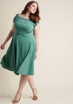 AdoreWe - ModCloth Worth the Wink Midi Dress in Sage in 1X - AdoreWe.com