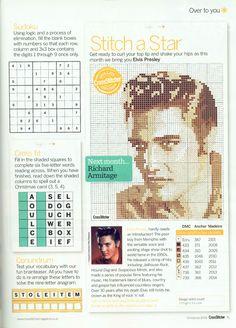 Elvis Presley FromCross Stitcher N°205 Christmas 2008