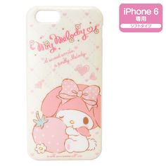 """My Melody iPhone 6 (4.7"""") Soft Cover Case Strawberry SANRIO JAPAN 