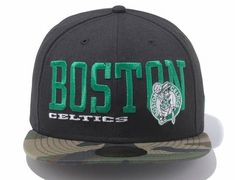 NEW ERA x NBA「Boston Celtics HWC black camouflage 」59Fifty Fitted Baseball  Cap Fitted 21416f3f33a