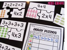 I love learning about arrays because they are so visual which allows for a lot of really fun rectangular arrays activities and practice! Multiplication Activities, Math Activities, Numeracy, Second Grade Math, 4th Grade Math, Math Work, Fun Math, Math Centers, Math Stations