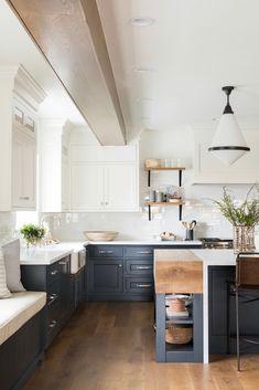 Modern kitchen - Northridge Remodel The Kitchen + Dining Nook – Modern kitchen Home Decor Kitchen, Interior Design Kitchen, Kitchen Furniture, New Kitchen, Kitchen Ideas, Kitchen Hacks, Kitchen Layout, Kitchen Trends, The Block Kitchen