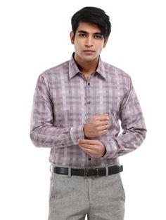 V Dot Men Maroon Checked Slim Fit Shirt   Myntra via @Myntra.com PRODUCT CODE: 104743  Rs. 1,899