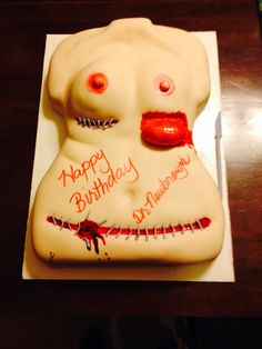Plastic surgery cake Amazing Wedding Cakes, Amazing Cakes, Pinterest Cookies, Edible Art, Plastic Surgery, Let Them Eat Cake, Cake Ideas, Anatomy, Bakery