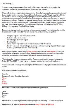 Sponsorship Proposal Template Details Of Organisation Sponsorship - Sample invoice for non profit organization