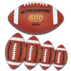 The Champro 500 Performance Composite Cover Football is made with raised high tack laces that allow for a better grip than leather laces. Football Field, Good Grips, Leather And Lace, Tack, Summer Fun, School Ideas, Composition, Cover, Football Pitch