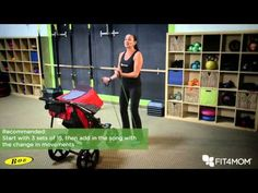 Bicep Curls with a song and Side Shuffles with Stroller - YouTube