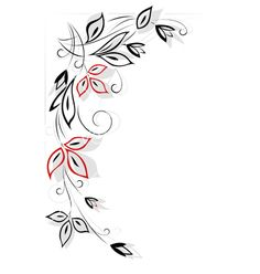 Black and red floral pattern vector 521874 - by Yorrico on VectorStock®