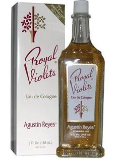 """Royal Violets Cologne, This is an iconic Cuban baby fragrance with the soft scent of violets. """"I'm Cuban, and it is a rite of passage to be doused in Violetas, a baby perfume, whether you like it or not,"""" says Eva Mendes, the new face of Angel perfume"""