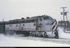 RailPictures.Net Photo: 9947 Burlington Northern Railroad EMD E8(A) at Grand Forks, North Dakota by Roger Puta