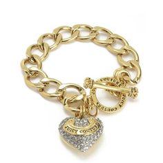 PAVE BANNER HEART STARTER BRACELET ($58) ❤ liked on Polyvore featuring jewelry, bracelets, pave bracelet, heart bracelet, pave heart bracelet, juicy couture bangle and heart jewelry