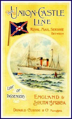 UnionCastle Line Kildonan Travel Poster Print by BloominLuvly, $9.95
