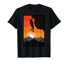 Vintage Rock, Retro Vintage, Rock Climbing, Superhero Logos, Sunset, Amazon, T Shirt, Sunsets, Supreme T Shirt