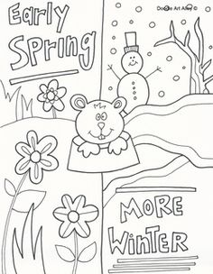 Groundhog Day Coloring Page  School  Groundhog Day  Pinterest