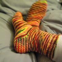 Ribby Holiday Socks - via @Craftsy