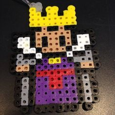 Evil Queen Snow White keychain perler beads by geek_beads