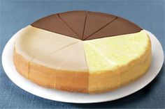 """Receive four slices each of our Skinny Eli® Plain, Chocolate and Key Lime Cheesecakes, made with Equal® Sweetener. Reduced fat, reduced calories and no sugar added. Just 110 calories per slice! 7"""" Cheesecake, pre-sliced, serves 12, $22.  #Cheesecake #Dessert #Healthy"""