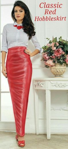 Sexy Skirt, Dress Skirt, Hot Outfits, Dress Outfits, Hobble Skirt, Leather Dresses, Shorts, Catsuit, Clothes For Women