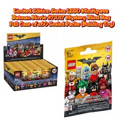 Limited Edition Series LEGO Minifigures Batman Movie #71017 Mystery Blind Bag Full Case of ×60 Sealed Packs - Building Toy