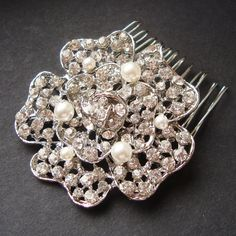 Hey, I found this really awesome Etsy listing at https://www.etsy.com/listing/122642997/vintage-style-crystal-rhinestone-rose