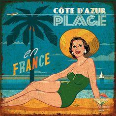 Vintage Labels, Vintage Ads, Vintage Signs, Vintage Posters, Diy Image, Beach Posters, Stencil, Surf Art, Arte Pop