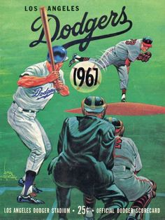 LA Dodgers 1967 program illustration by Karl Hubenthal Baseball Posters, Baseball Art, Dodgers Baseball, Better Baseball, Baseball Jerseys, Baseball Tattoos, Baseball Boyfriend, Baseball Signs, Angels Baseball