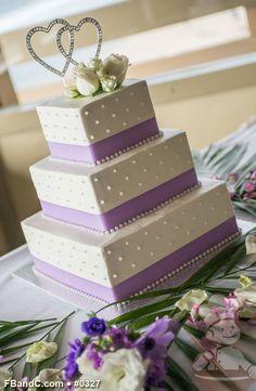 "Design W 0327 | Butter Cream Wedding Cake | 12""+9""+6"" | Serves 120 | Satin Ribbon, Fresh Flowers | Standard Price"