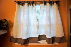 burlap curtains | Burlap curtains | For the Home