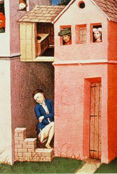 Andreuccio da Perugia gabbato dalla cortigiana – miniatura fiamminga dal Decameron, XV secolo.