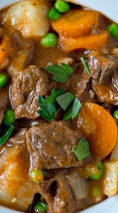 This recipe for Instant Pot Beef Stew uses apple cider to create a tasty and slightly sweet gravy for the tender chunks of beef and hearty vegetables. Beef Soup Recipes, Herb Recipes, Meatball Recipes, Apple Recipes, Instant Pot Pressure Cooker, Pressure Cooker Recipes, Pressure Pot, Veal Stew, Beef And Potato Stew