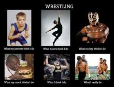 Wrestling...pretty much sums it up!