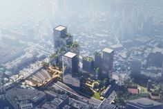 The 360,644-square-metre development is intended to transform an inaccessible site in the Yongsan District and will incorporate courtyards that link up with MVRDV's Seoul Skygarden. Among its facilities will be shops, workshops and a conference centre, alongside towers containing hotels, offices and apartments – designed by Henning Larsen with local architect Siaplan and retail consultant Benoy. Changing Spaces, Win Competitions, Green Facade, Schematic Design, Henning Larsen, Mixed Use Development, Timber Buildings, Urban Fabric, Local Architects