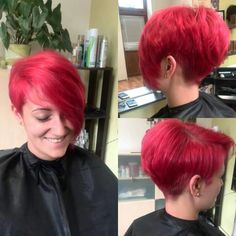 short haircut hairstyle on redhead