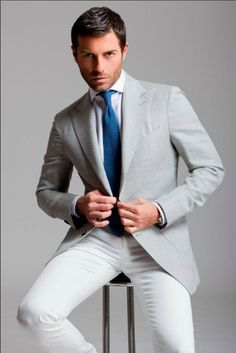 It takes a man to look fresh in a pair of white pants. Sartoria Rossi - S/S 2012 #menswear