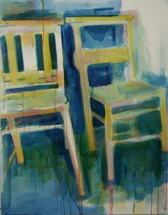 Coloured Chairs #12 oil on canvas 71x92cm