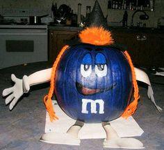 cool decorated pumpkins | Blue M & M Halloween Witch Pumpkin Photo