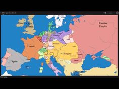 European time lapse map changing borders & countries.