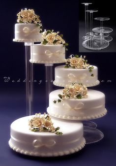 cascade wedding cakes | Tier Cascade Wedding Cake Stand Stands Set | eBay