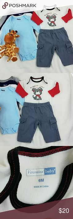 Matching Set Vitamins Baby & circo Onesies Matching Set Vitamins Baby & circo Onesies  Size:6-9m Assorted colors. Excellent condition. Vitamins Baby Matching Sets