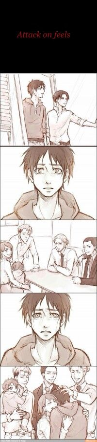Looks like an AU where they all died but was reborn in tis modern universe and now Eren meets them again
