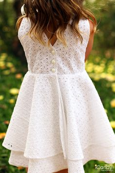 White Eyelet GT Full Back