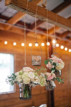 I wonder if we could have some hanging arrangements somewhere? Out in the courtyard? At the old barn door?