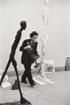 Henri Cartier-Bresson Alberto Giacometti, Galerie Maeght, Paris, 1961- Phillips